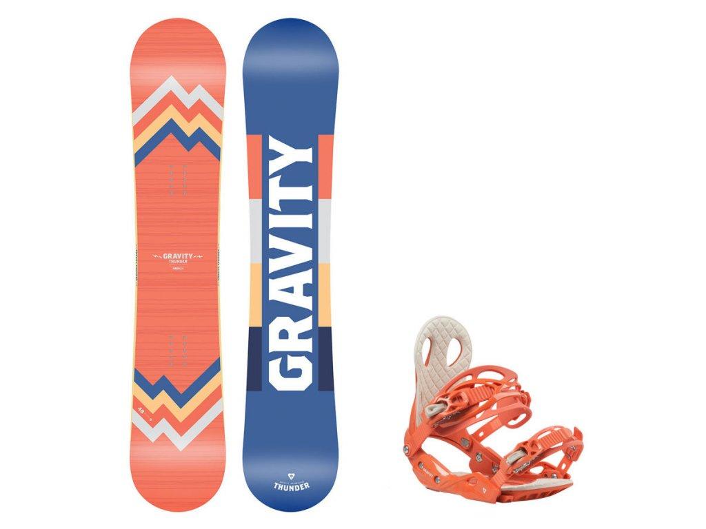 Snowboard komplet Gravity Thunder 19/20 + vázání G2
