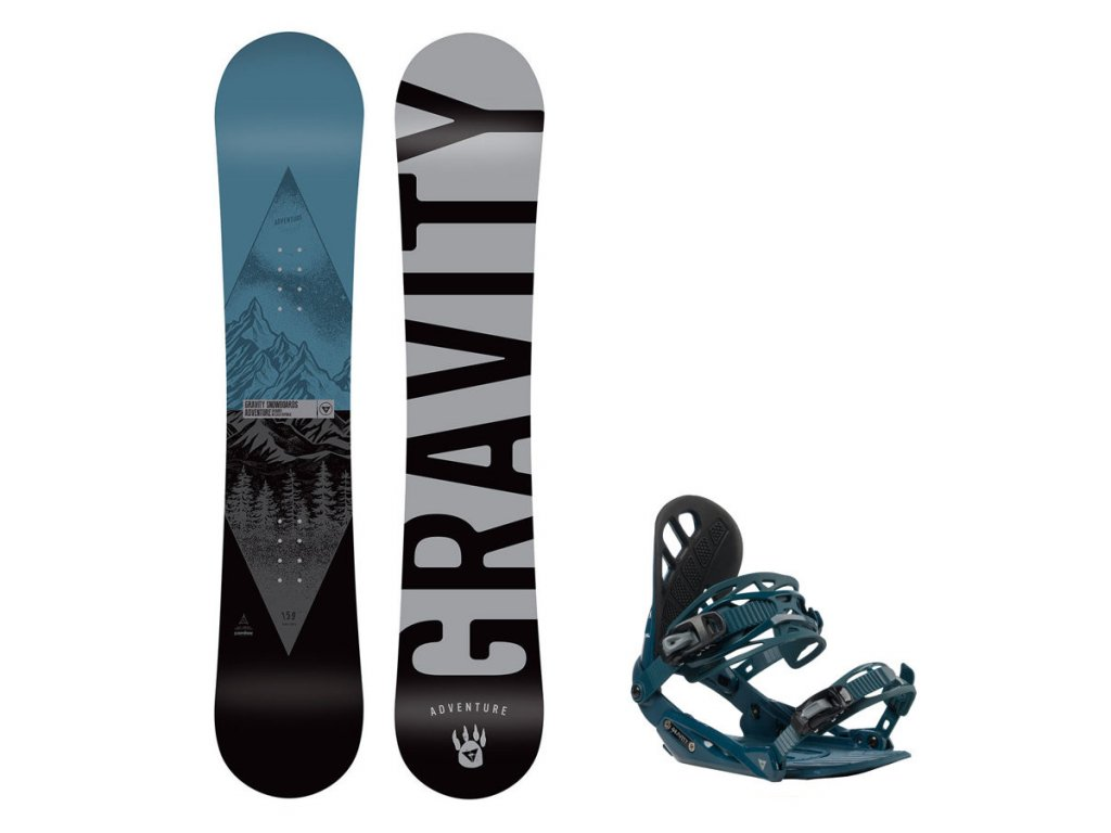 Snowboard komplet Gravity Adventure 19/20 + vázání G1 dark slate