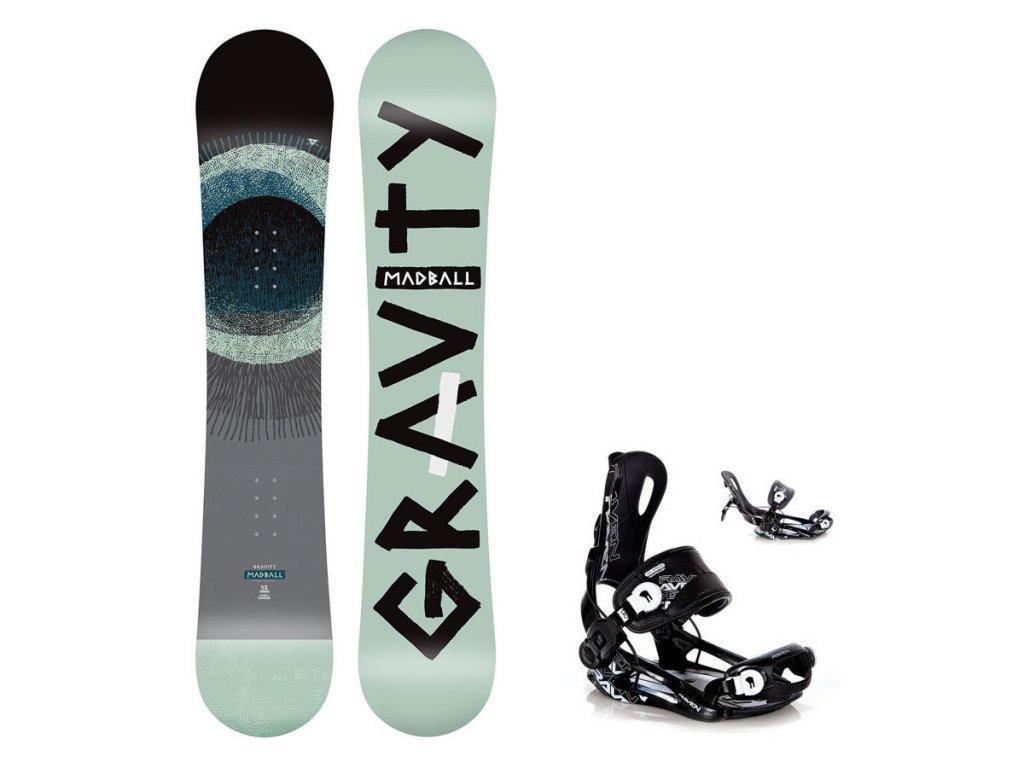 Snowboard komplet Gravity Madball 19/20 + vázání Fastec