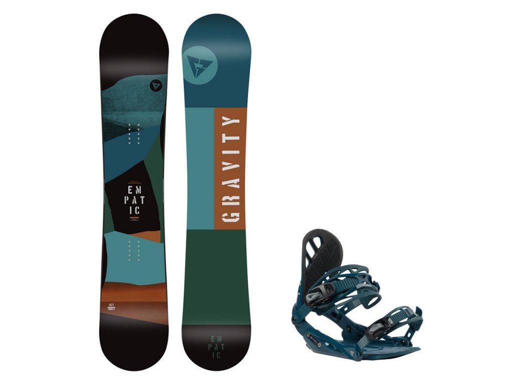 Snowboard komplet Gravity Empatic 19/20 + vázání G1