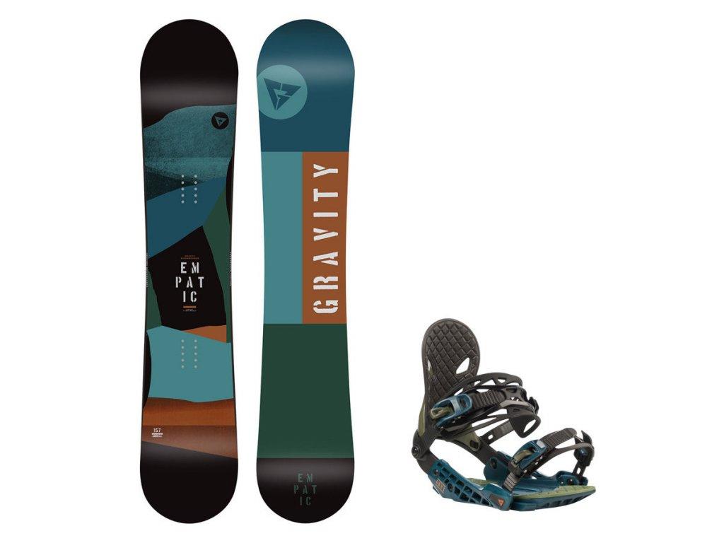 Snowboard komplet Gravity Empatic 19/20 + vázání G2