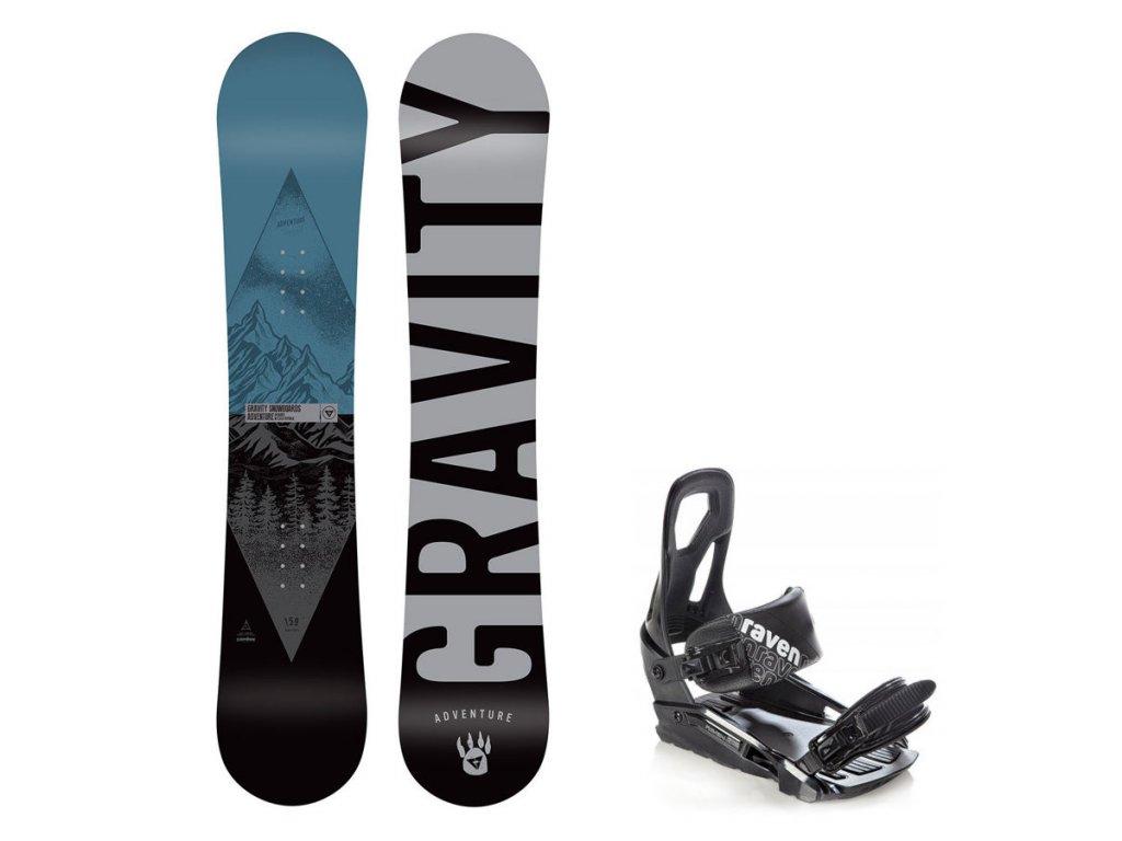 Snowboard komplet Gravity Adventure 19/20 + vázání S200