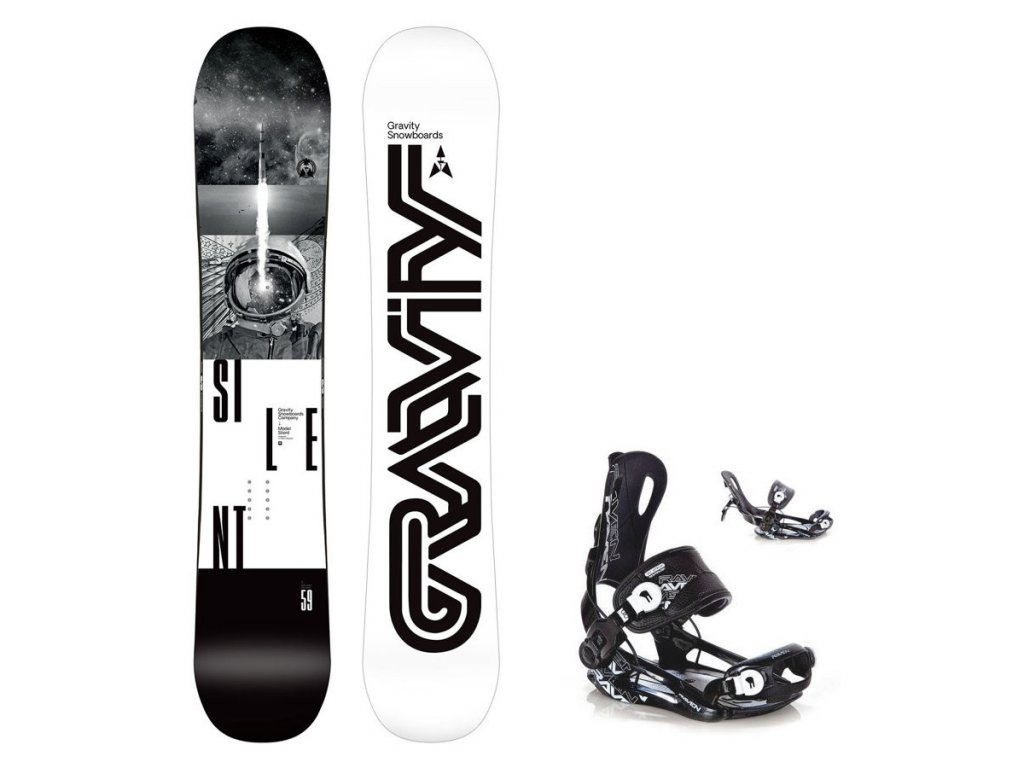 Snowboard komplet Gravity Silent 19/20 + Fastec