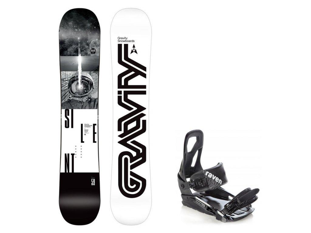 Snowboard komplet Gravity Silent 19/20 + vázání S200