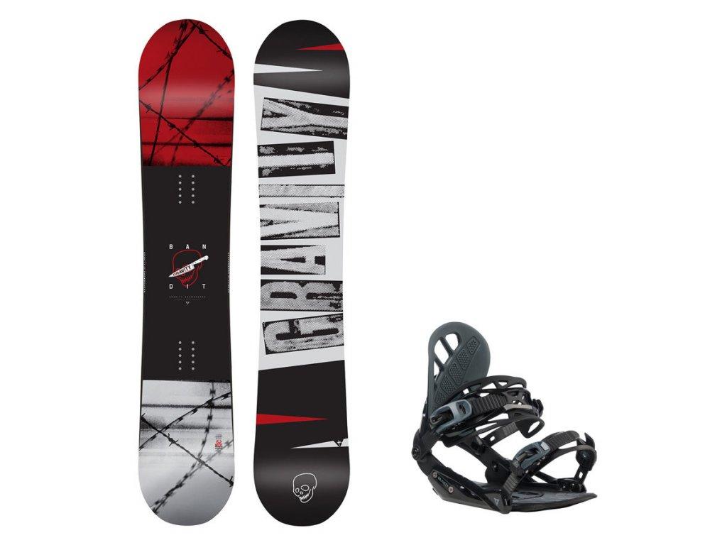 Snowboard komplet Gravity Bandit 19/20 + vázání G1
