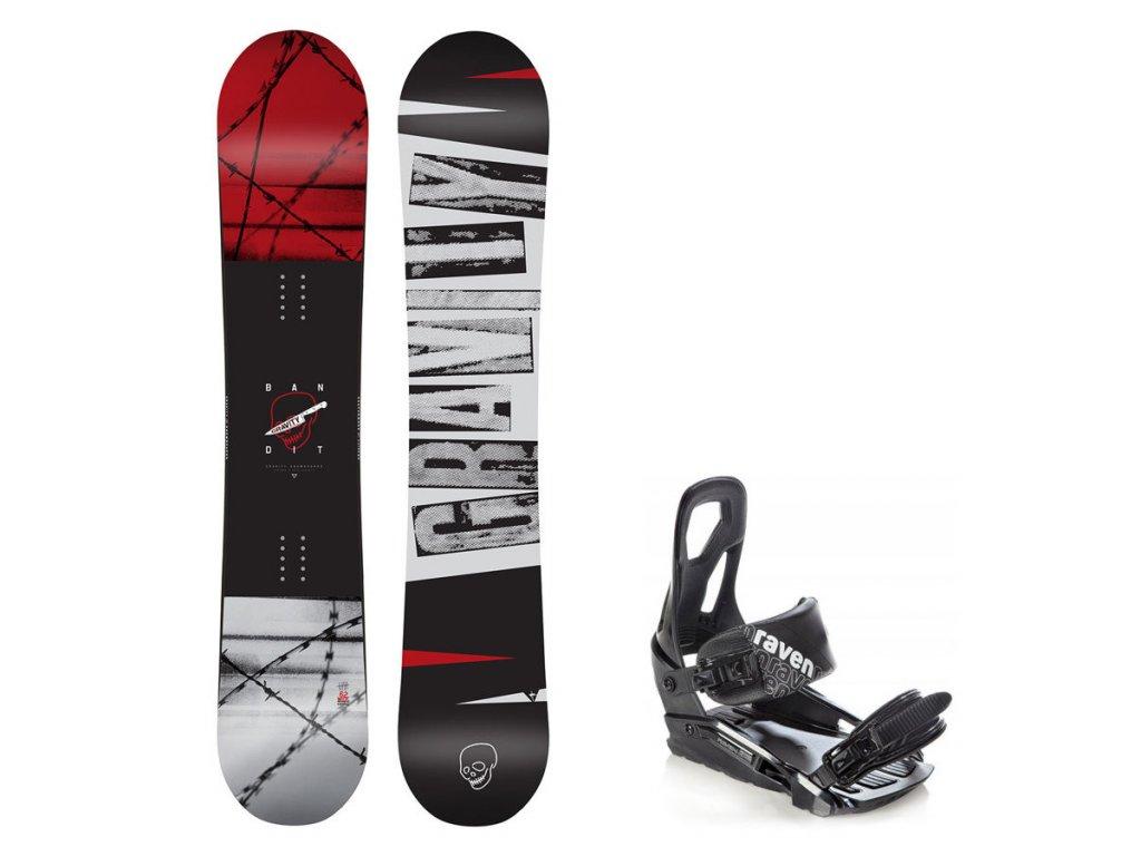 Snowboard komplet Gravity Bandit 19/20 + vázání S200