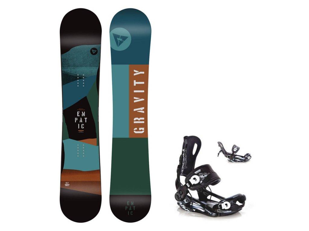 Snowboard komplet Gravity Empatic 19/20 + vázání Fastec