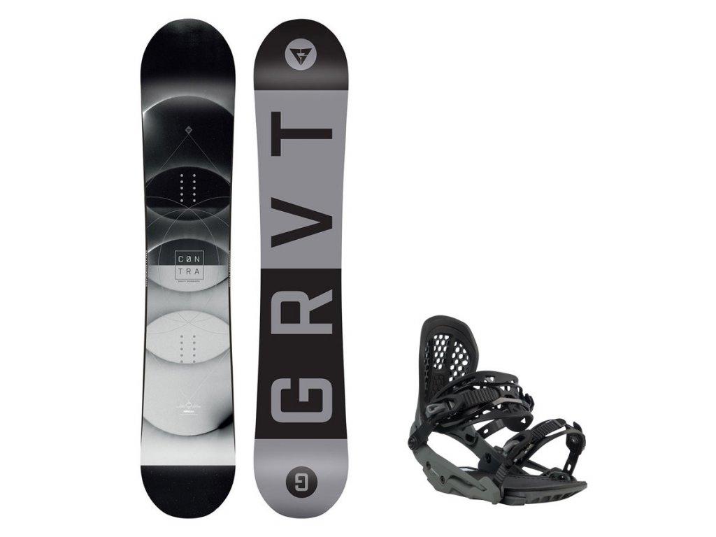Snowboard komplet Gravity Contra 19/20 + vázání G3