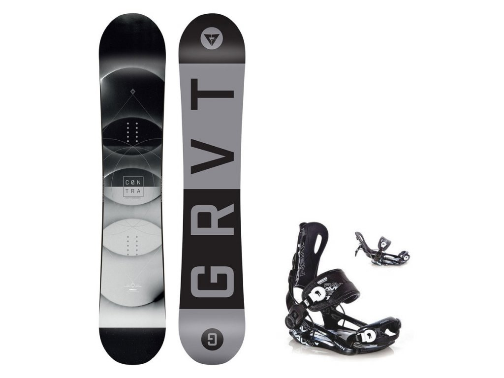 Snowboard komplet Gravity Contra 19/20 + Fastec