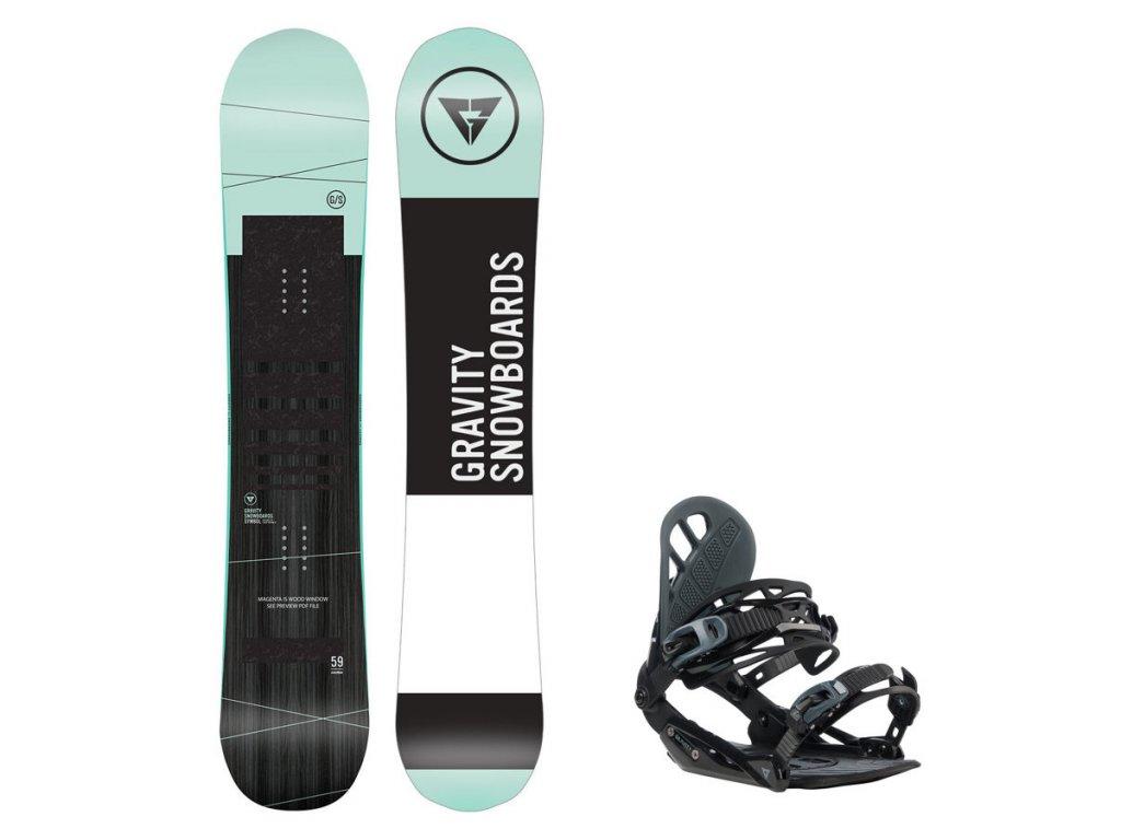 Snowboard komplet Gravity Symbol 19/20 + vázání G1