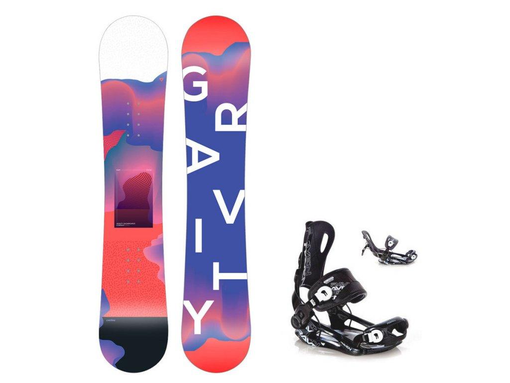 Snowboard komplet Gravity Fairy 19/20 junior + Fastec