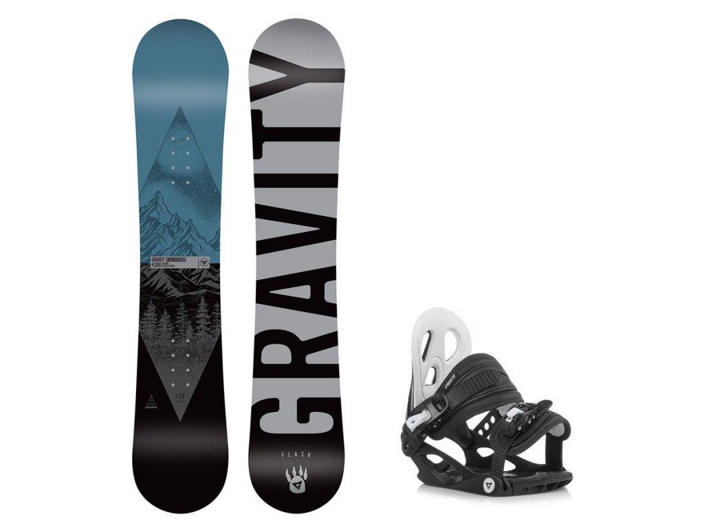 Snowboard komplet Gravity Flash 19/20 junior + G1jr