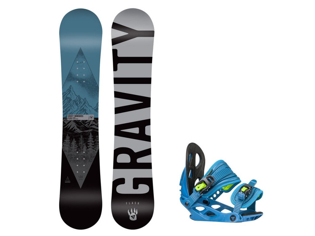 Snowboard komplet Gravity Flash 19/20 mini (110, 120)
