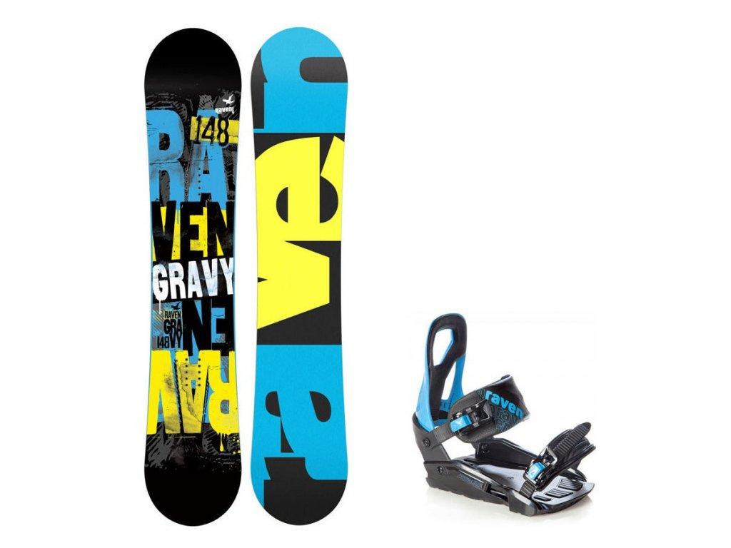 Snowboard komplet Raven Gravy + vázání s200 blue