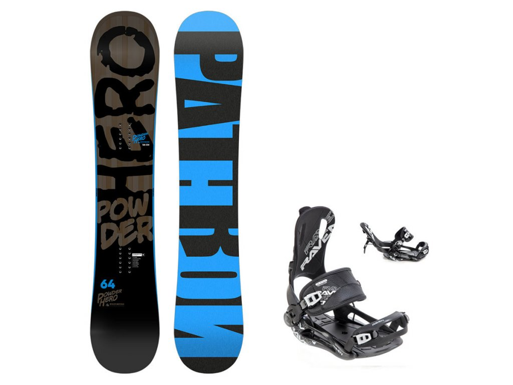 Snowboard komplet Pathron Powder Hero + vázání Fastec