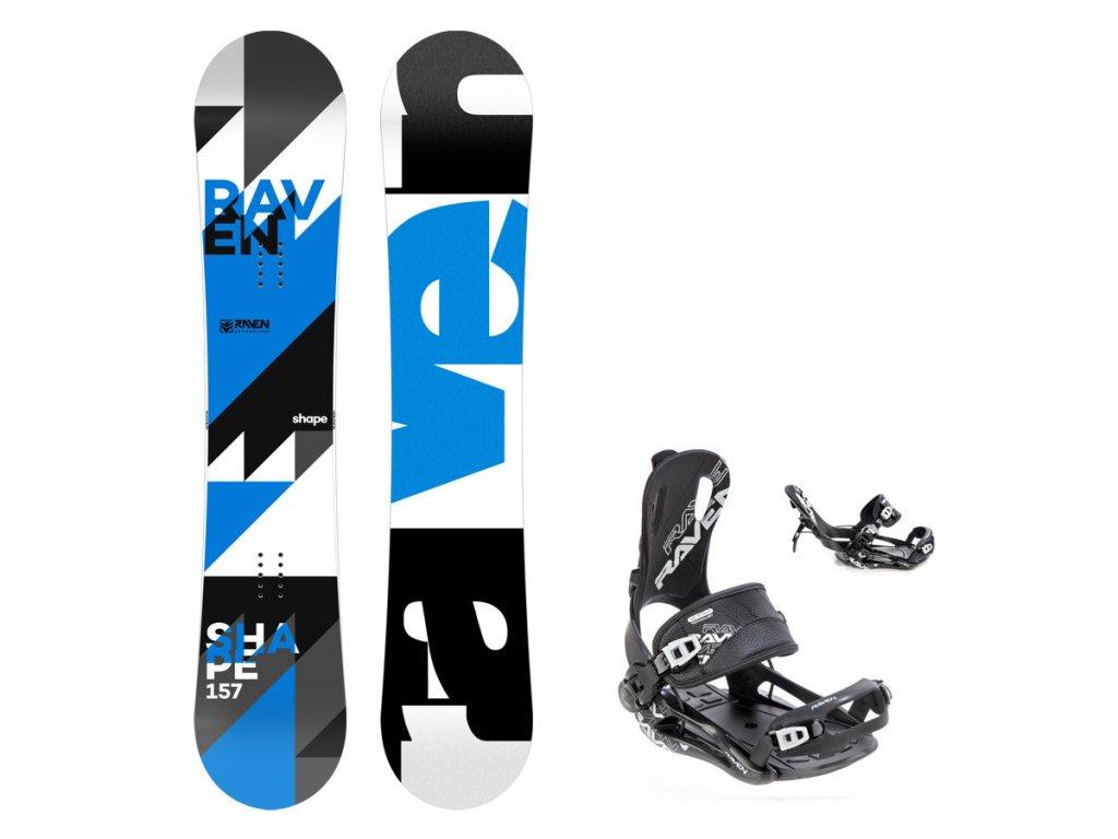 Snowboard komplet Raven Shape + vázání Fastec