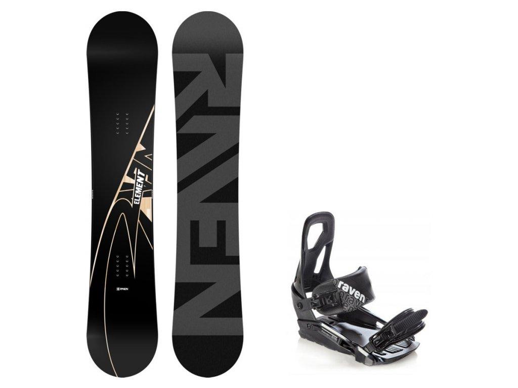 Snowboard komplet Raven Element Carbon + vázání S200