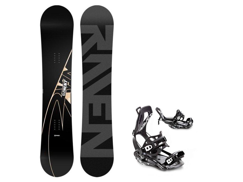 Snowboard komplet Raven Element Carbon + vázání Fastec