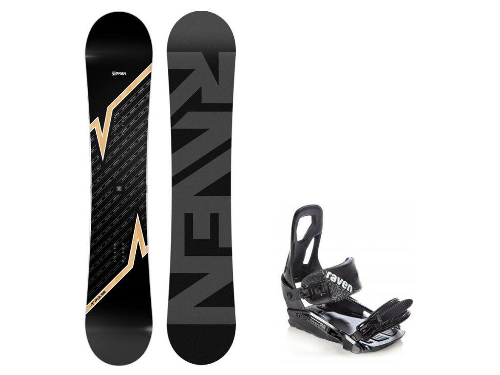 Snowboard komplet Raven Pulse + vázání S200