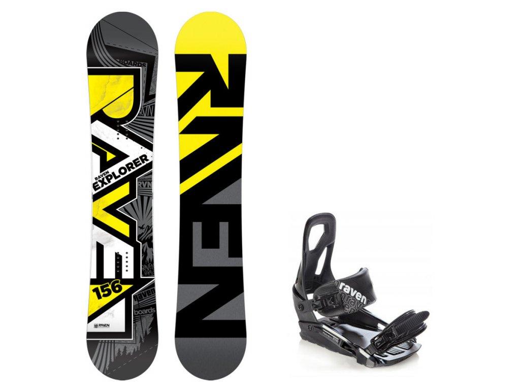 Snowboard komplet Raven Explorer + vázání S200