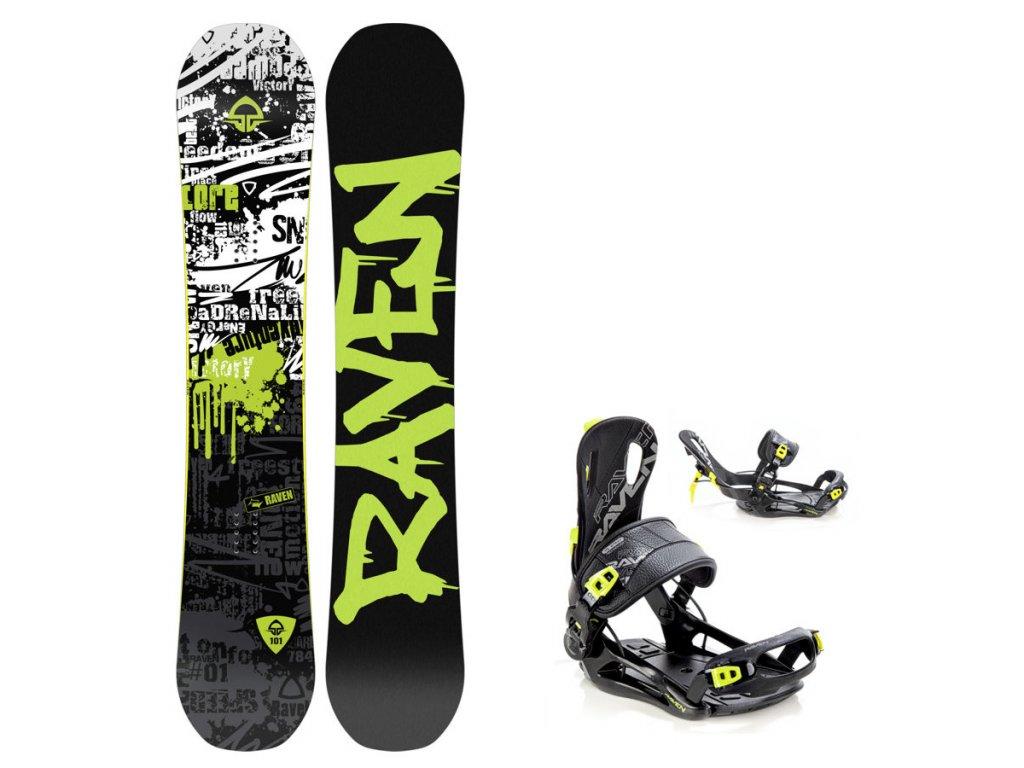 Snowboard komplet Raven Core + vázání Fastec