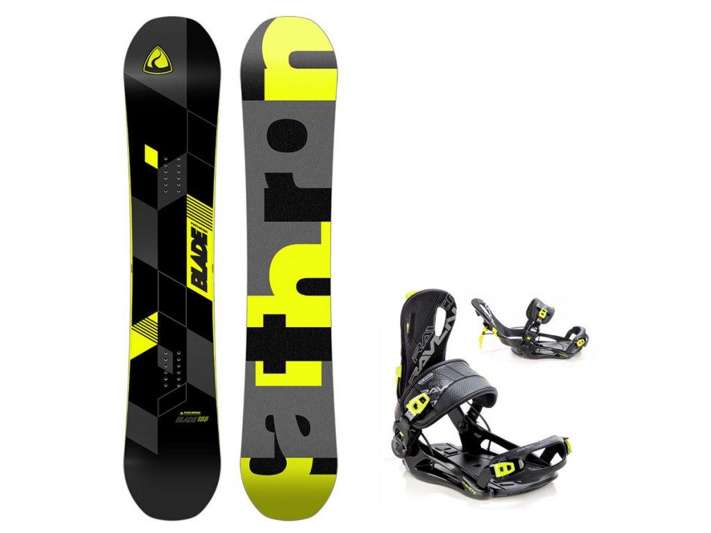 Snowboard komplet Pathron Blade + vázání Fastec lemon
