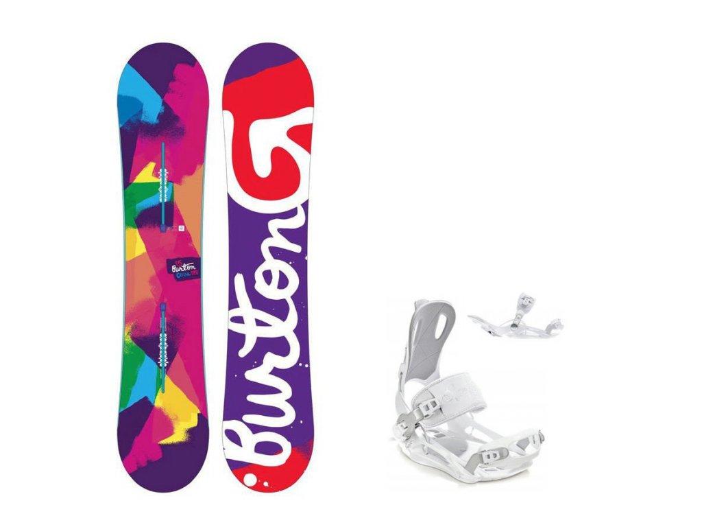 Snowboard komplet Burton Genie 16/17 + vázání Fastec