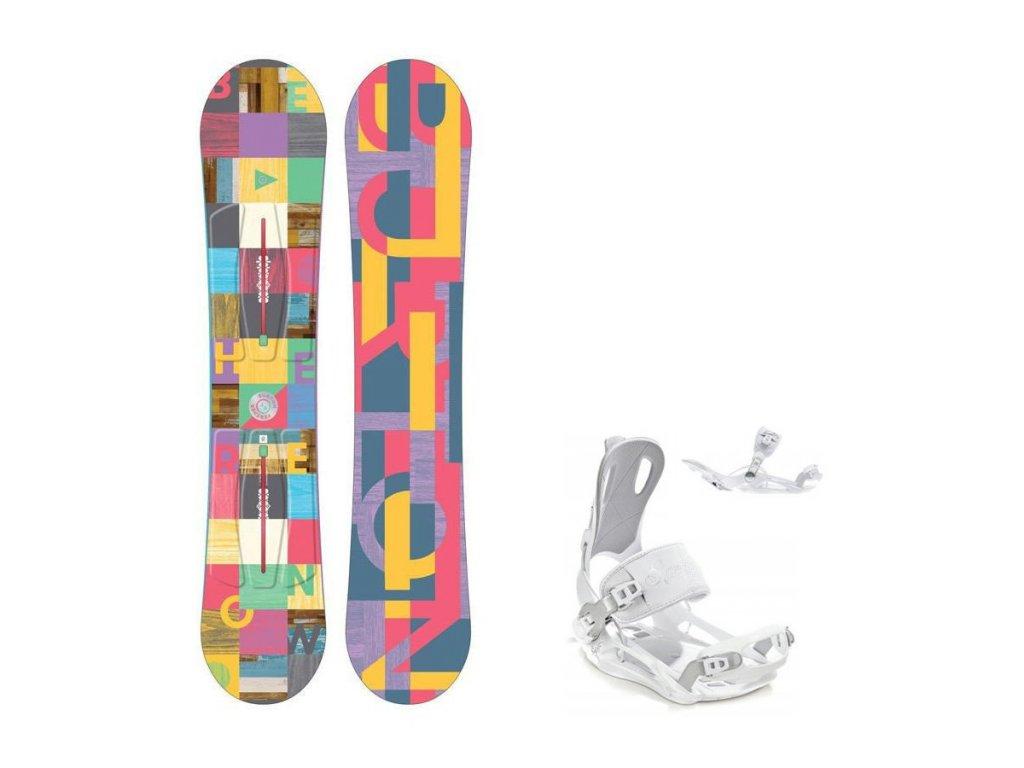 Snowboard komplet Burton Feather 16/17 + vázání Fastec