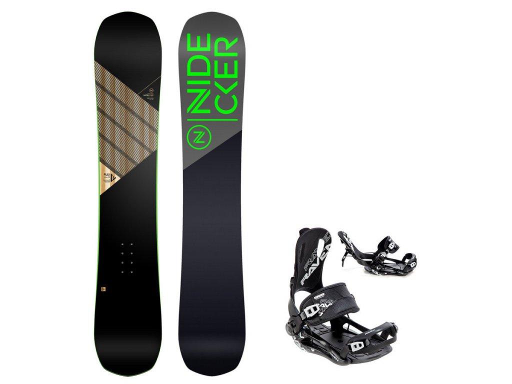 Snowboard komplet Nidecker Play + vázání Fastec