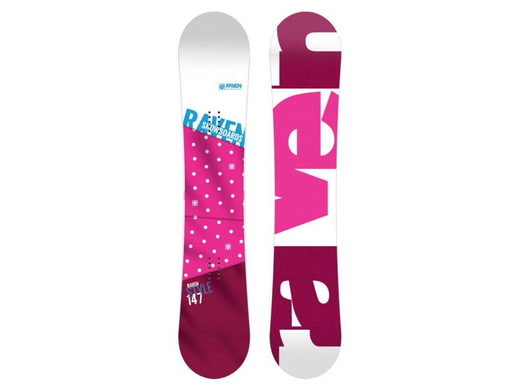 Snowboard Raven Style pink