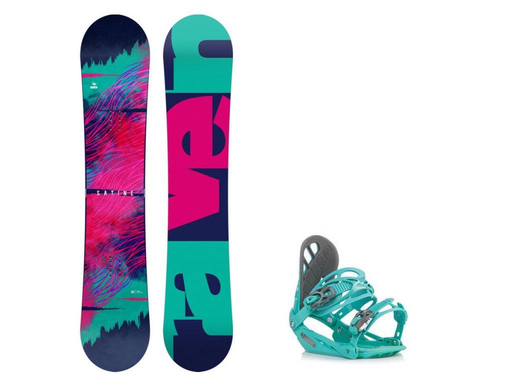 Snowboard komplet Raven Satine + vázání G1