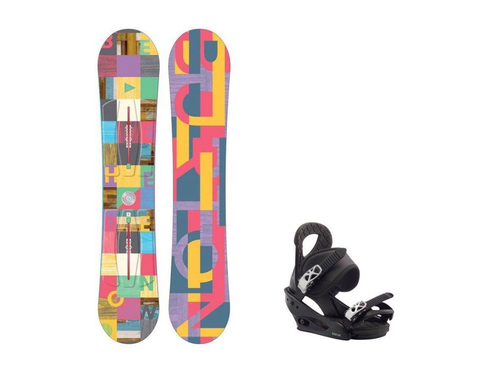 Snowboard komplet Burton Feather 16/17 + vázání Citizen black