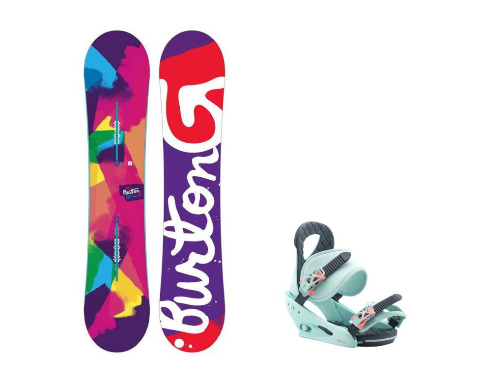 Snowboard komplet Burton Genie + vázání Citizen blue