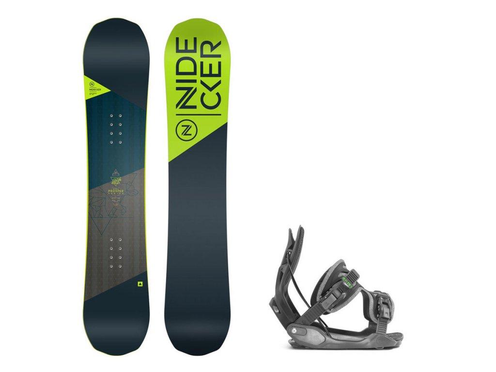 Snowboard komplet Nidecker Prosper + vázání Flow Alpha