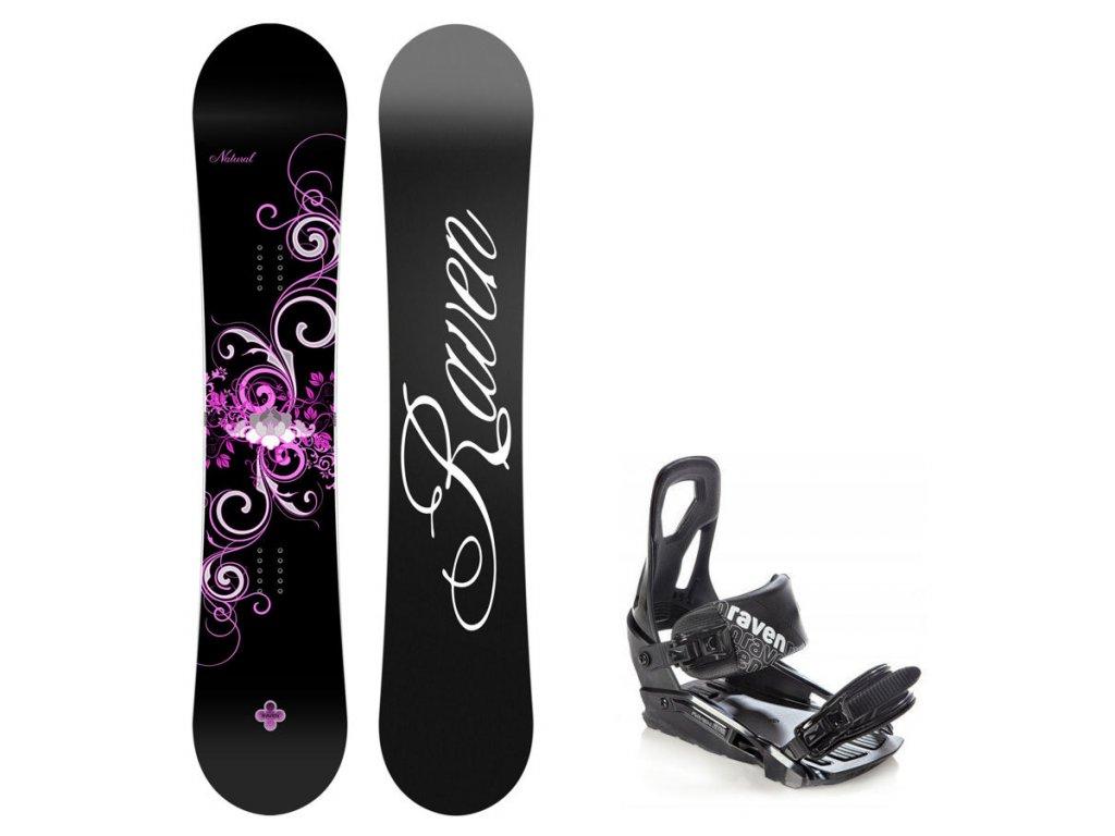 Snowboard komplet Raven Natural + vázání S200