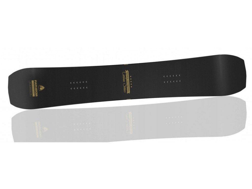 Snowboard komplet Pathron Carbon gold + vázání Raven Fastec