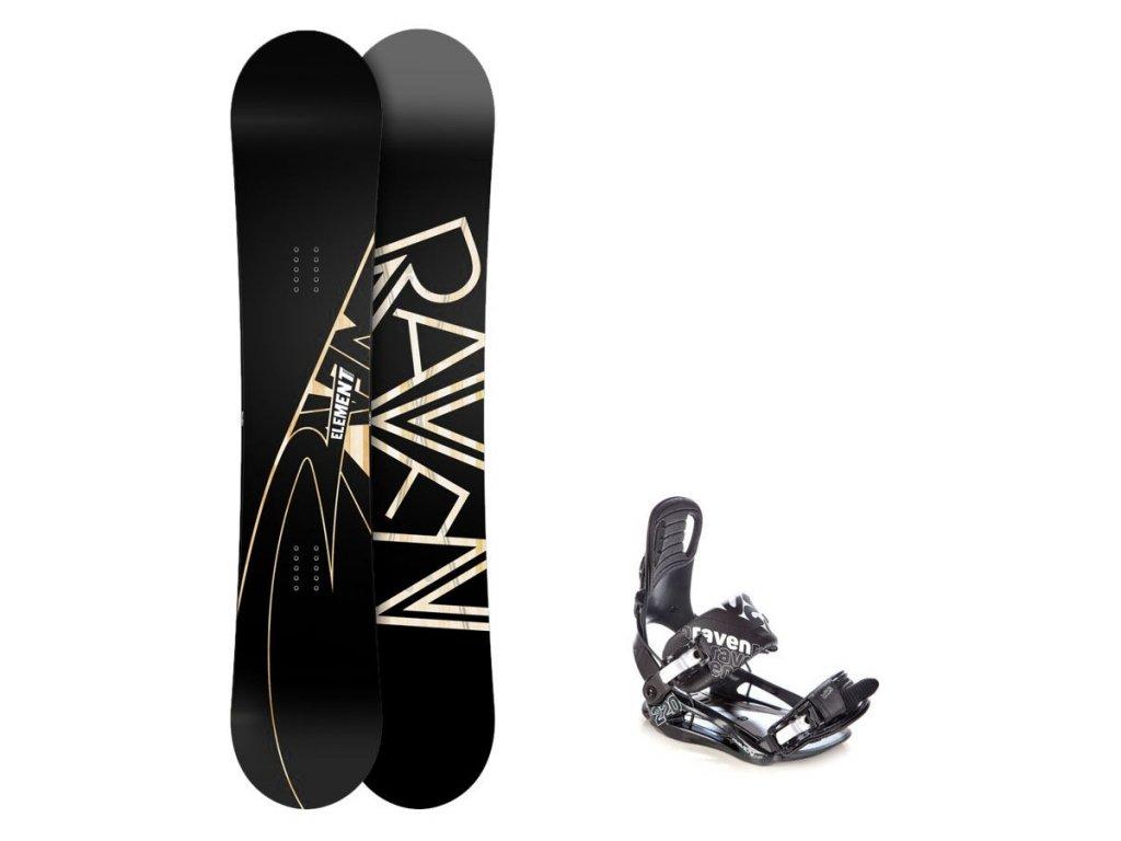 Snowboard komplet Raven Element Carbon 18/19 + vázání Raven