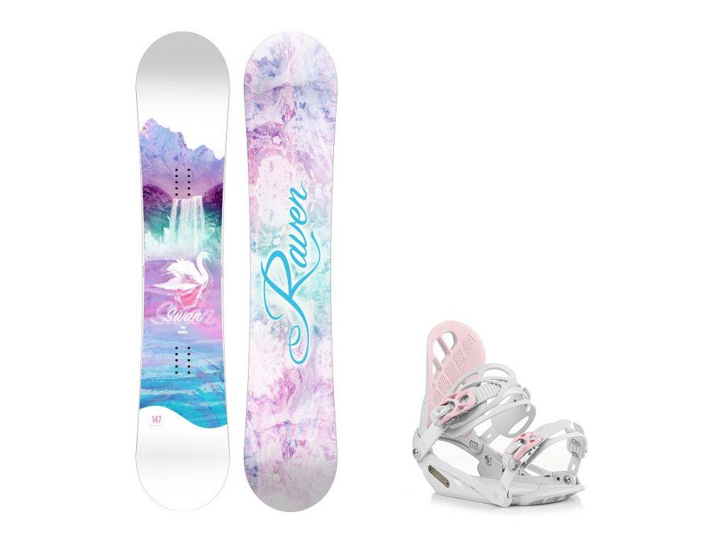 snowboard komplet raven swan g1