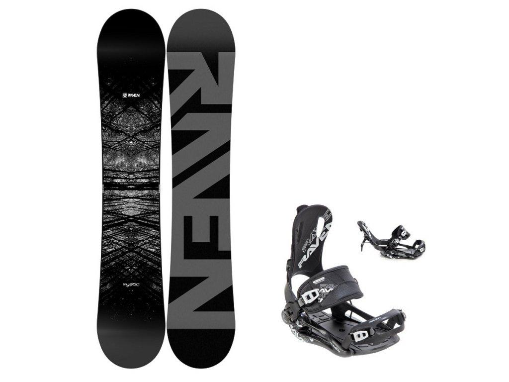 snowboard komplet raven mystic fastec