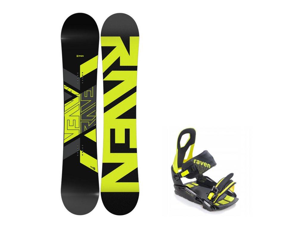 snowboard komplet raven patrol s200 lime