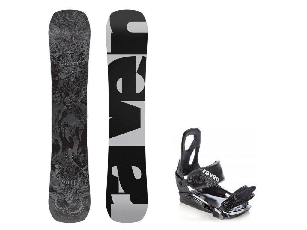 big 151679246904 snowboard komplet raven grunge 17 18 vazani fastec