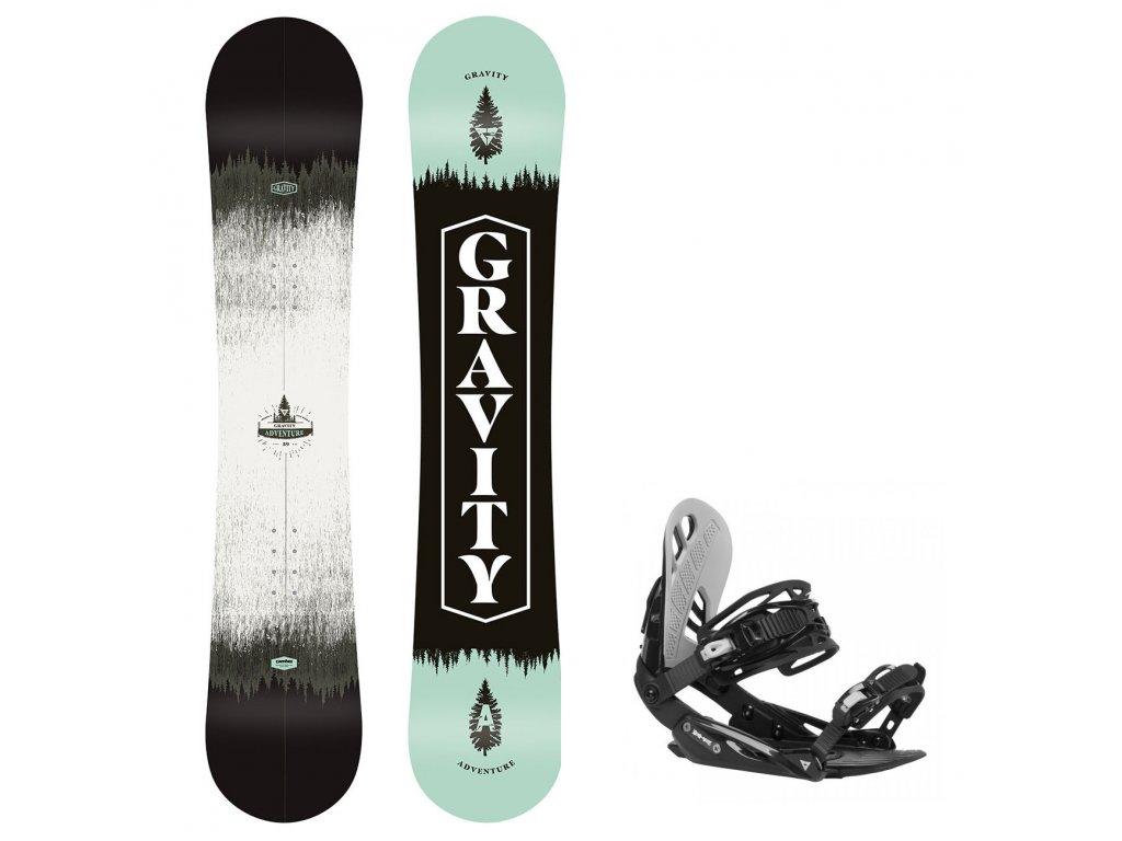 Snowboard komplet Gravity Adventure 20/21 + vázání G1