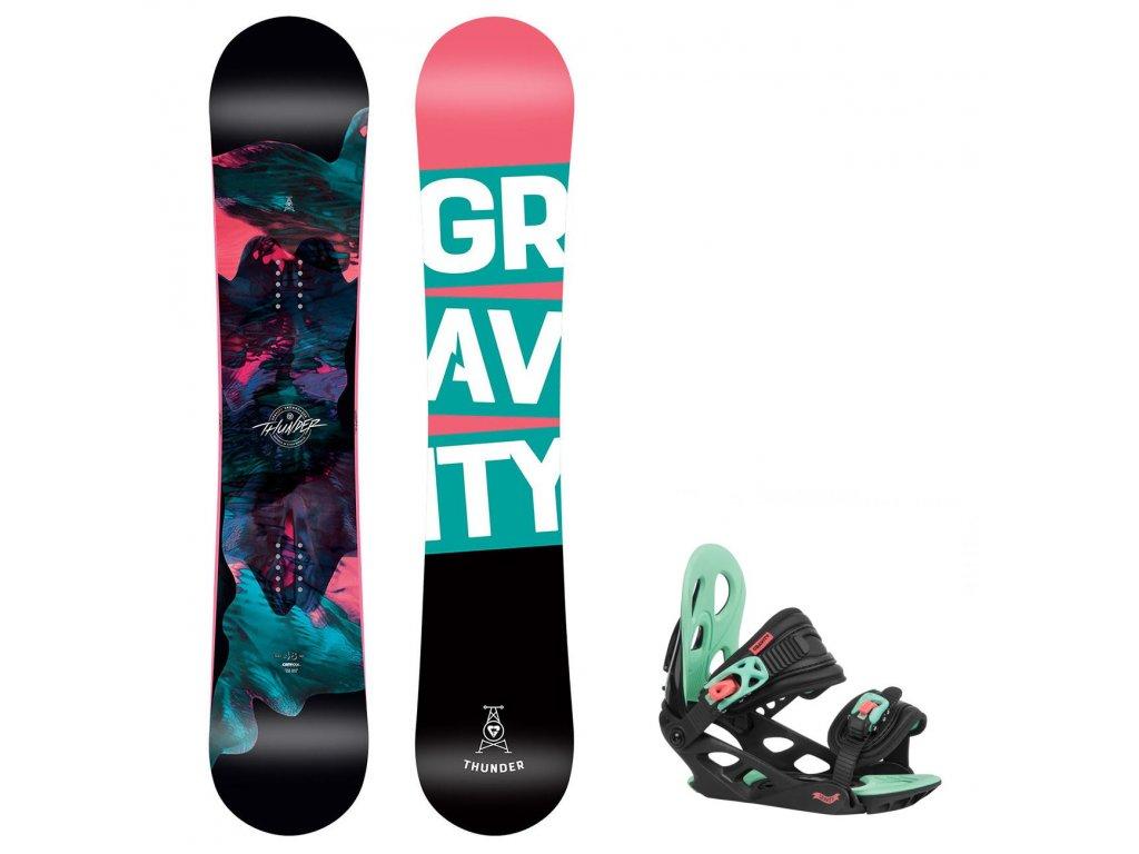 snowboard komplet gravity thunder g1 black