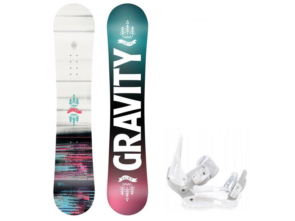 snowboard komplet gravity fairy s200 white