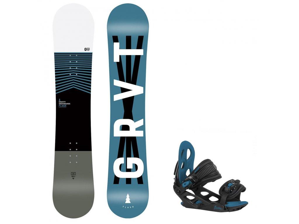 snowboard komplet gravity flash g1 black