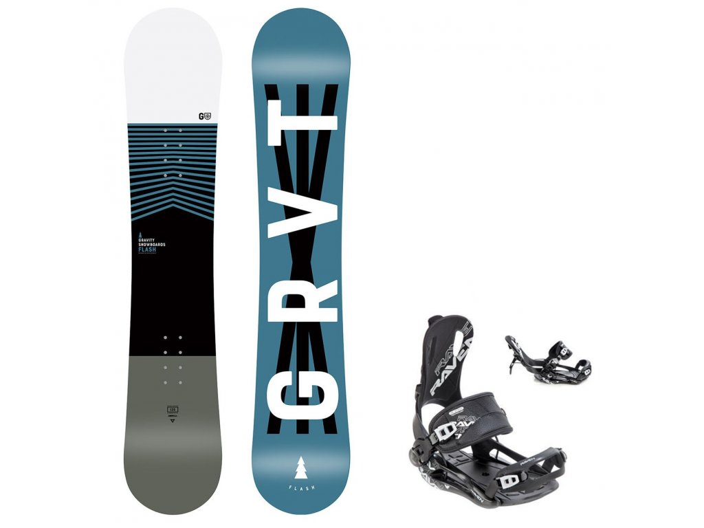 snowboard komplet gravity flash fastec