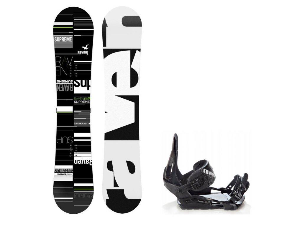 Snowboard komplet Raven Supreme + vázání Raven S200
