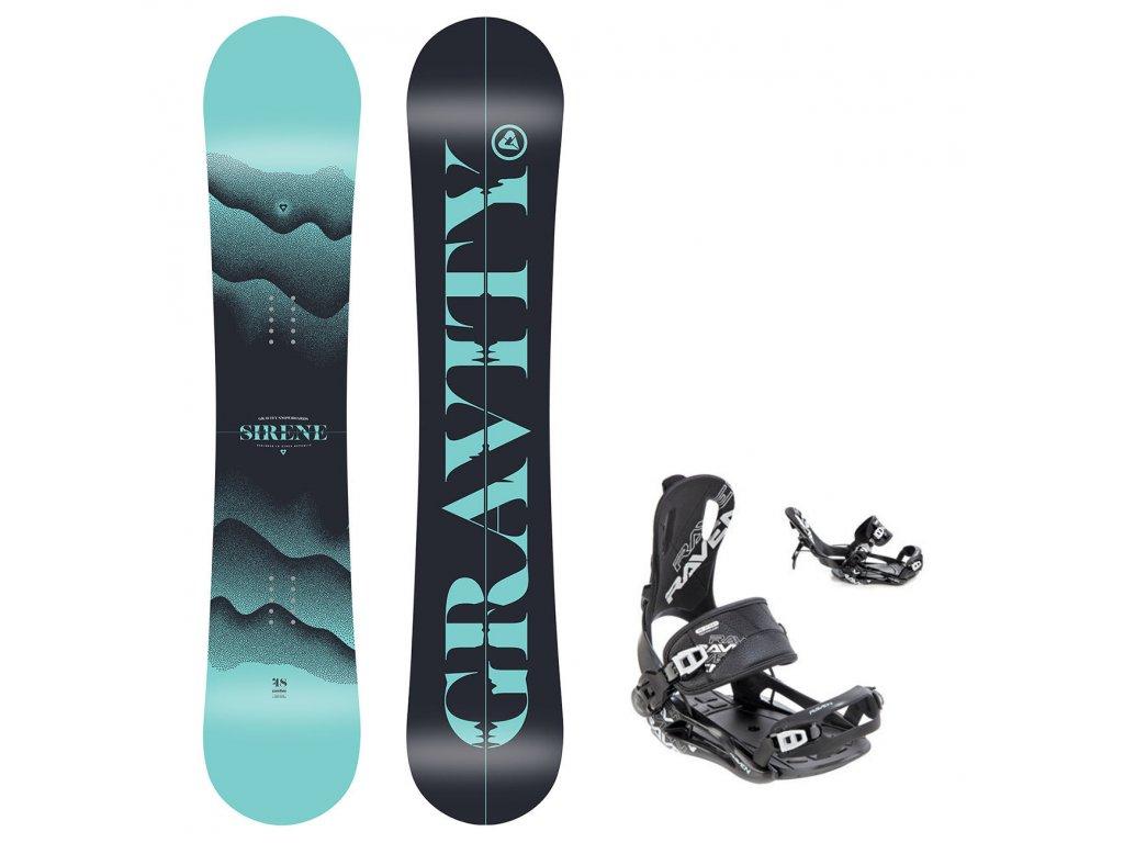 snowboard komplet gravity sirene fastec black