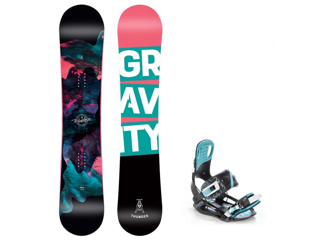 snowboard komplet gravity thunder starlet