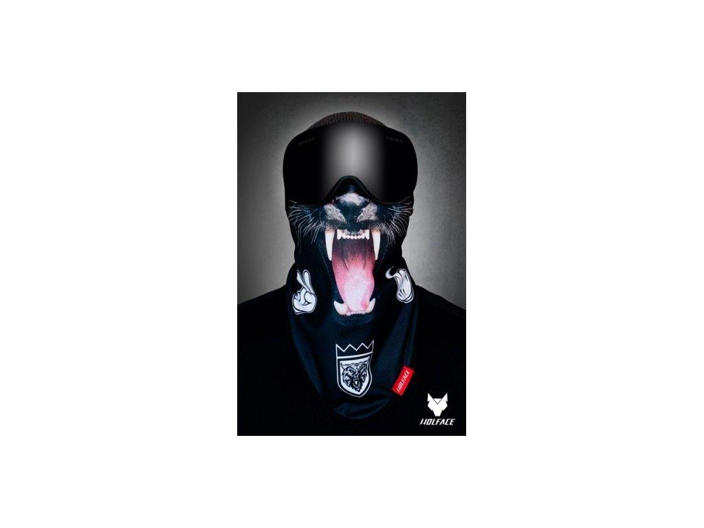 Nákrčník Wolface Black panther
